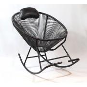 Cadeira De Balanço Acapulco Preta 80x100x70cm