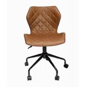 Cadeira Escritorio Matelasse Pu Marrom 79-87x47x53cm