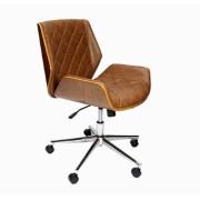 Cadeira Escritório Vergada Matelasse Pu Marrom