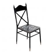 Cadeira Metal Vintage estilo Café Paris Preta 92,5x39x52cm