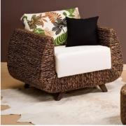 Cadeira Poltrona Casquinha em Madeira 80x78x95cm