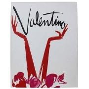 Caixa Livro Valentino Fullway Branco Com Estampa Vermelha