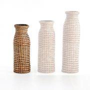 Cesto De Vime Decorativo Pequeno - Forma Vaso