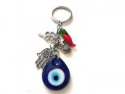 Chaveiro Patuá Olho Grego - Murano - Proteção Pimenta