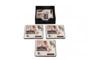 Conjunto de 6 peças Porta Copos Paris Birds 10x10x1,5cm