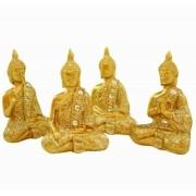 Conjunto de Budas com 4 importado