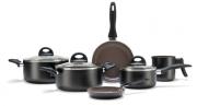 Conjunto De Panelas Ceramic Life Smart Plus 6 Peças - Preto - Brinox