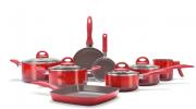 Conjunto De Panelas Ceramic Life Smart Plus 8 Peças - Brinox - Vermelho