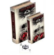Conjunto Livro Caixa Decorativo Book Box 2 Peças Estação Luz Sp Fullway - Mais Um Jogo De Cartas