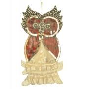 Estatua Imagem de Coruja De Parede Mod B Mosaico Mad Bali Imp