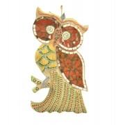 Estatua Imagem de Coruja De Parede Mod C Mosaico Mad Bali Imp