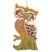 Estatua Imagem de Coruja De Parede Mod D Mosaico Mad Bali Imp