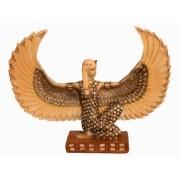 Estatua Imagem de Deusa Isis Asa Aberta Com Espelho