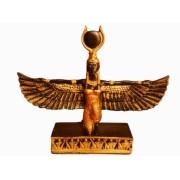 Estatua Imagem de Deusa Isis Dourada M