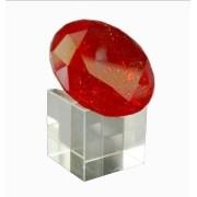 Diamante Cristal Vermelho 60mm C/ Base Imp