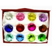 Diamante De Cristal 50mm Caixa Com 12  Imp