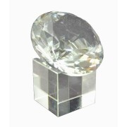 Diamante de Cristal 60mm Branco com base  imp