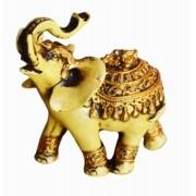 Estatua Imagem de Elefante Betumado Dourado