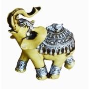 Estatua Imagem de Elefante Betumado Prata