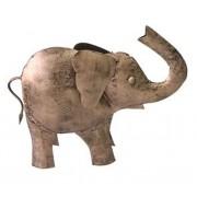 Elefante Decorativo em Ferro 18x6x23cm