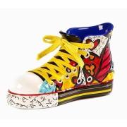 Escultura Romero Britto Sapato Sneaker  7x13x6cm