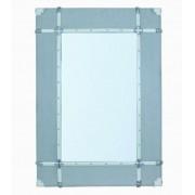 Espelho Emoldurado Wood/Line Off White Oldway 120x85x8cm
