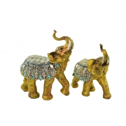 Estatua Imagem de Elefante C/ 2 De Resina Importado