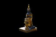 Estátua Ísis Deusa Do Amor Dourada 16cm