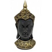 Estatueta Decorativa Cabeça Buda 14.2x15x33cm
