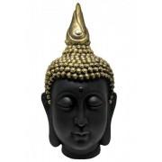 Estatueta Decorativa Cabeça Buda 28x28x50cm