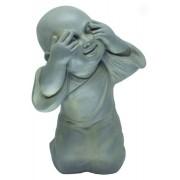 Estatueta Buda de Composto Mineral 26,5x22x39cm