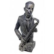Estatueta Resina Saxofone 28x13,5x42,5cm