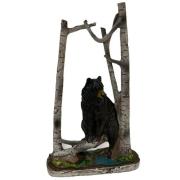 Estatueta Urso Preto na Árvore Decorativo De Resina 18cm