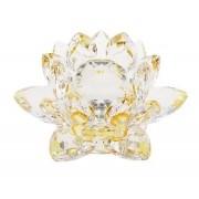 Flor De Lotus Cristal Amarela 20mm Imp