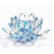Flor De Lotus Cristal Azul 30mm Imp