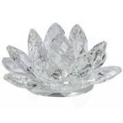 Flor De Lotus Cristal Branca 30mm Imp