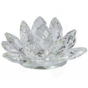 Flor De Lotus Cristal Branca 50mm Imp