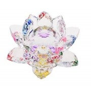 Flor De Lotus Cristal Miolo Colorido Imp