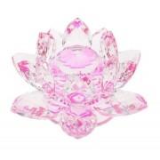 Flor De Lotus Cristal Rosa 20mm Imp
