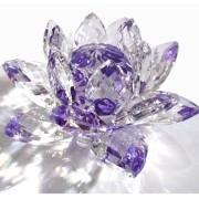 Flor De Lotus Cristal Roxa 20mm Imp