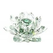 Flor De Lotus Cristal Verde 40mm Imp