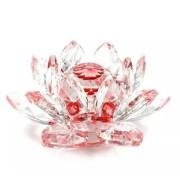 Flor De Lotus Cristal Vermelha 60mm Imp