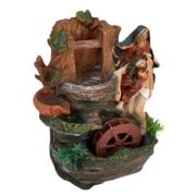 Fonte Agua Decorativa Cascata Artificial Jesus E Maria 25cm
