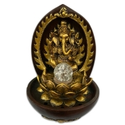 Fonte de Água Cascata Decorativa de Mesa Bivolt Ganesha c/ bola 30cm