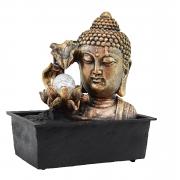 Fonte Zen de Água Buda Flor Com Bola