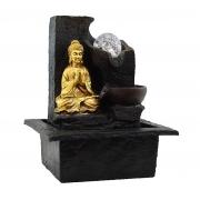 Fonte Zen de Água Buda Meditando Com Bola