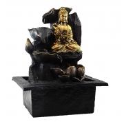 Fonte Zen de Água Buda Meditando Com Flor De Lótus