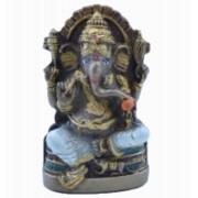 Estatua Enfeite Deus Ganesha P Branco Costas Lisa Plana