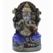 Estatua Enfeite Deus Ganesha P Roxo Costas Lisa Plana