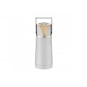 Garrafa Térmica Pump Ampola de Vidro Sarezzo Ouro 24k 1 Litro